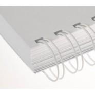 9/16'' Beyaz 3:1'' (inç) A4 34 Loop Kutu Tel Spiral 100'lü